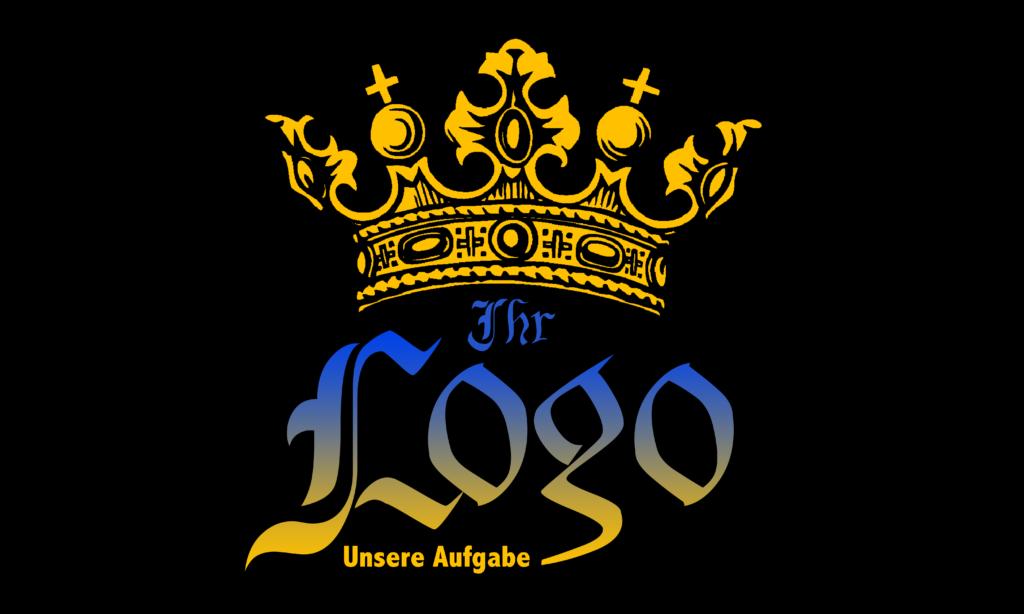 Negativbeispiel: unruhiges Logo, schlechte Schrift- & Farbwahl